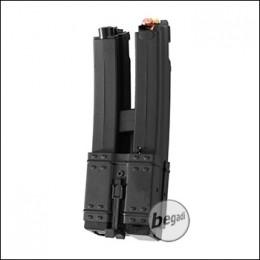 Battleaxe MP5 Elektro Dual Highcap Magazin (500 BBs) -schwarz-