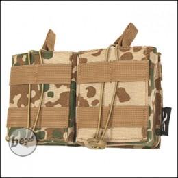 BE-X Open Mag Pouch, double, für HK417 - BW tropentarn