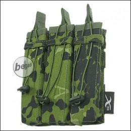 BE-X Open Mag Pouch, triple, für MP5 - dänisch tarn