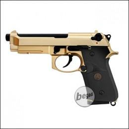 WE M9 A1 Vollmetall GBB -goldfarben- (frei ab 18 J.)