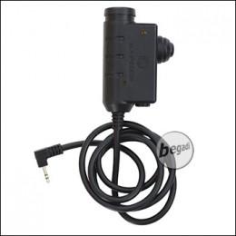 EARMOR PTT Einheit / Sprechtaste für Headsets - für Motorola Talk. [M51-M1]
