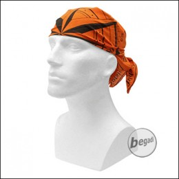 FIBEGA Survival Bandana, reine Baumwolle, 60x60cm - orange / schwarz