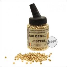 1.500 BEGADI Stahl BBs 4,5mm - goldfarben - in Feeder