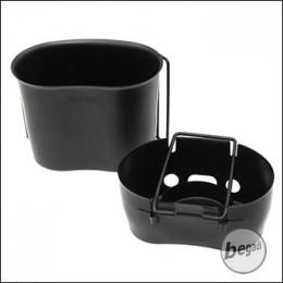 BCB Kocher für US Feldflasche, mit Becher, beschichtet - schwarz