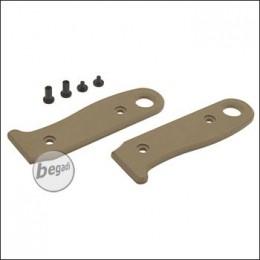 Griffschalen für BE-X Allemans Feldmesser, mit Schrauben - TAN