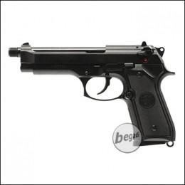 """KJW M9 """"PRO"""" GBB, schwarz, Gas Version -mit 14mm Gewinde- (frei ab 18 J.)"""