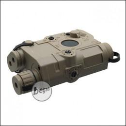 Battleaxe Batteriebox, klein, im PEQ15 Style - TAN