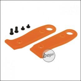 Griffschalen für BE-X Allemans Feldmesser, mit Schrauben - orange