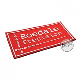 """3D Abzeichen """"ROEDALE"""" aus Hartgummi, mit Klett - rot"""