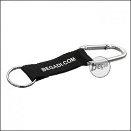 BEGADI Karabiner Schlüssel Anhänger - schwarz (gratis ab 50 EUR)
