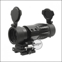 Begadi 4x Magnifier mit Push Button Flip To Side Mount - schwarz