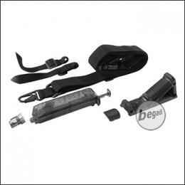 SET: Begadi 3 Punkt Sling + Angled Grip + Loading Tool - schwarz