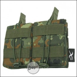 BE-X Open Mag Pouch, double, für G3 / M14 - flecktarn