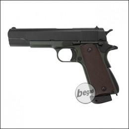 "KJW M1911 ""PRO"" GBB, olive, CO2 Version (frei ab 18 J.)"