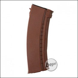 Battleaxe AK74 Flash Highcap Magazin (500 BBs) -orange-