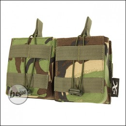 BE-X Open Mag Pouch, double, für HK417 - woodland DPM
