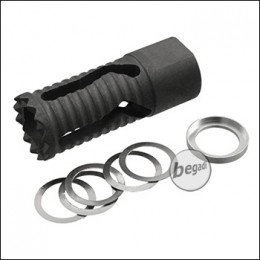 UFC CQB Type B Stahl CCW Flash Hider (14mm-) [UFC-FH-23A]
