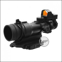 Begadi ACOG Style Scope Bundle - inkl. Mini Reddot, Killflash & QD Mount