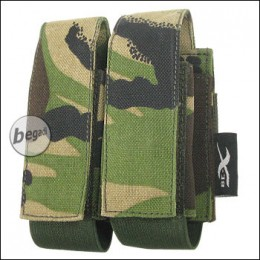 "BE-X Tasche ""40mm Shell"", double - woodland DPM"