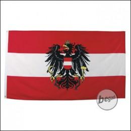 Fahne, Österreich, m. Verst.band, Gr. 90x150 cm