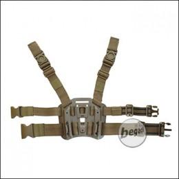 KYOU Beinplattform für Hartschalenholster, TAN