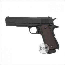 "KJW M1911 ""PRO"" GBB, schwarz, CO2 Version (frei ab 18 J.)"