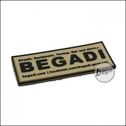 """3D Abzeichen """"Begadi Shop"""", mit Klett - TAN (gratis ab 75 EUR)"""
