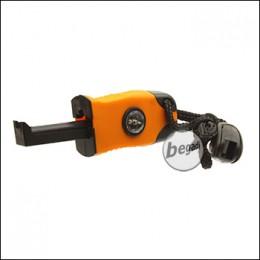 Fibega Feuerstarter, einhändig bedienbar - orange