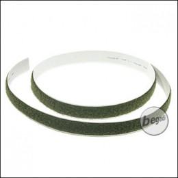 BE-X Selbstklebendes Klettband, 20mm, Länge: 1 Meter - olive