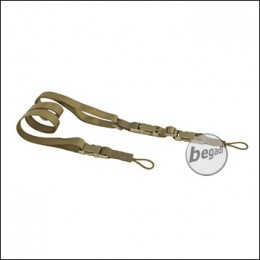 BE-X FronTier One 3 Punkt Universal Sling, made in Germany - TAN