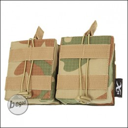 BE-X Open Mag Pouch, double, für HK417 - V2, Rip Stop - rooivalk