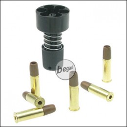 Speedloader für Dan Wesson Revolver -6mm- inkl. 6 Hülsen
