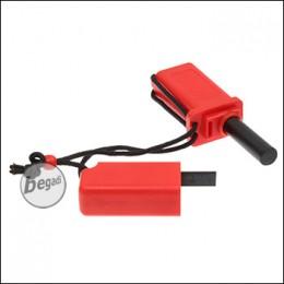BE-X Feuerstahl mit Zunderbox (rot)