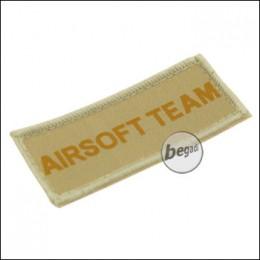 """Aufnäher """"Airsoft Team"""", neue Version - TAN"""
