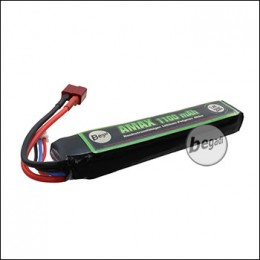 "Begadi ""AMAX"" LiPo Akku 7,4V 1100mAh 20C Single Stick mit Dean"