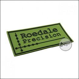 """3D Abzeichen """"ROEDALE"""" aus Hartgummi, mit Klett - olive"""