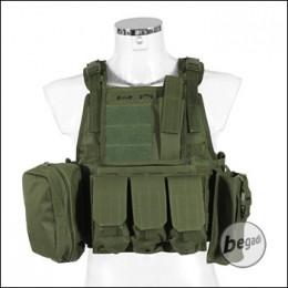 """PHX Plate Carrier / Plattenträger """"Commando"""", mit 4 Taschen - olive"""