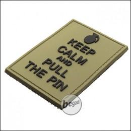 """BE-X 3D Abzeichen """"Pull the Pin"""", aus Hartgummi, mit Klett - TAN"""