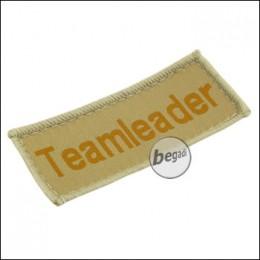 """Aufnäher """"Teamleader"""", neue Version - TAN"""