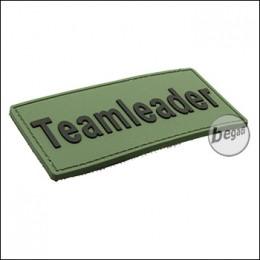 """BE-X 3D Abzeichen """"Teamleader - olive"""" aus Hartgummi"""