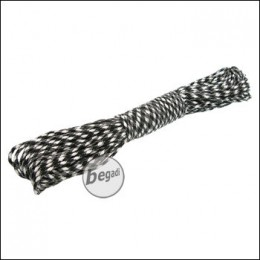 "BE-X Paracord ""Black & White"", 550lbs, 30m"