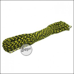 "BE-X Paracord ""Yellow & Black"", 550lbs, 30m"