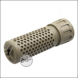 "Begadi ""Kilo"" Silencer mit Flashhider, TAN - kurz"