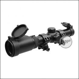 Begadi Fastaim 1.25 - 4.5 x 26 Tactical Zielfernrohr mit bel. Absehen & Montage