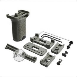 """Begadi Vertical Short Grip """"Multi"""" für RIS, M-LOK & Keymod Systeme -grau / foliage-"""