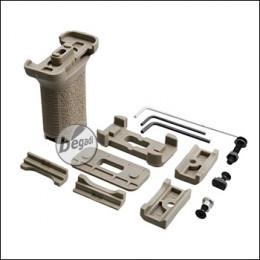 "Begadi Vertical Short Grip ""Multi"" für RIS, M-LOK & Keymod Systeme -TAN-"