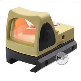 Begadi Micro Dot Gen.2 (19mm) mit 2 Montagen & Schutzcover -goldfarben-