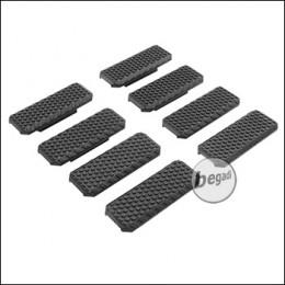 "Begadi M-LOK Rail Cover Set ""Type 1"", flach, 8 Stück  -schwarz-"