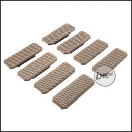 "Begadi M-LOK Rail Cover Set ""Type 1"", flach, 8 Stück  -TAN-"