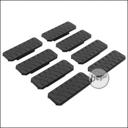 "Begadi M-LOK Rail Cover Set ""Type 5"", flach, 8 Stück  -schwarz-"